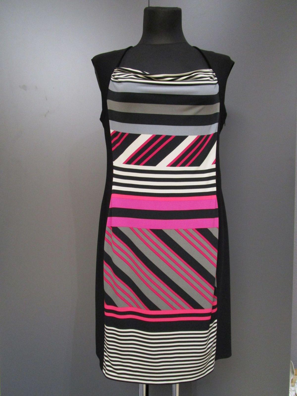 Details zu Joseph Ribkoff Kleid elastisch schwarz Gr.15 (M15-15)