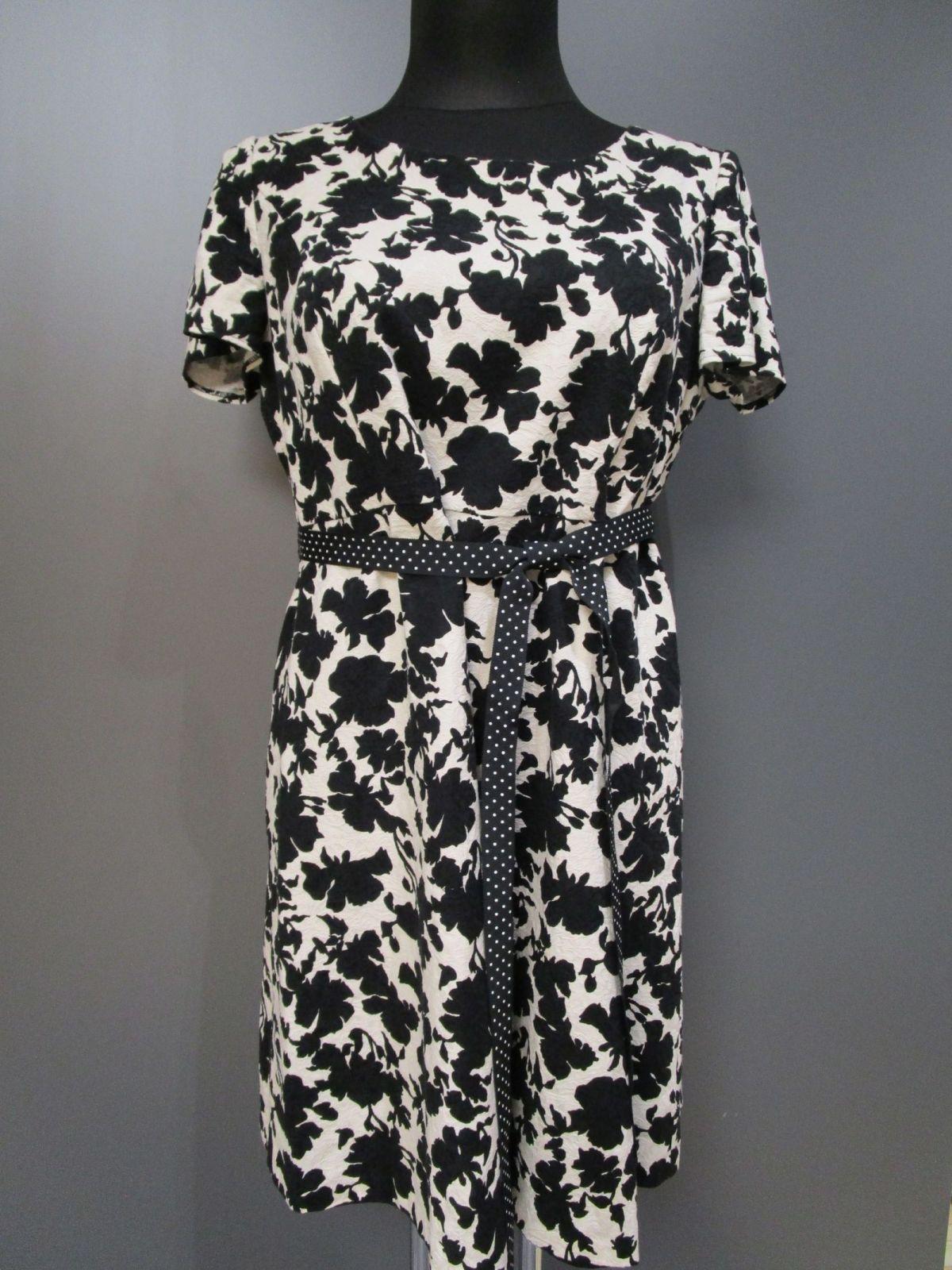 taifun kleid schwarz-weiß blumen gr.42 (d35-1)   ebay