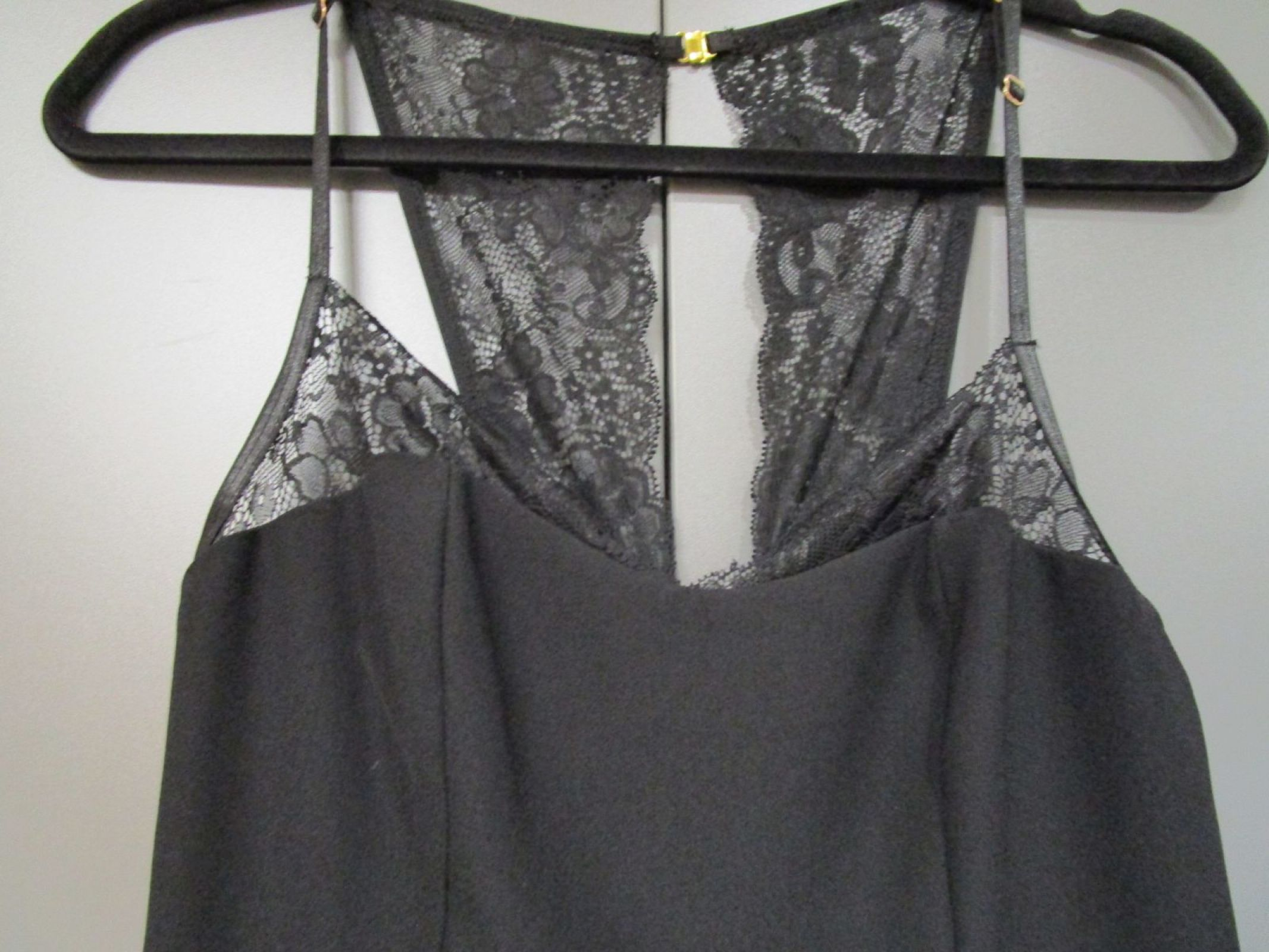 details zu guess jumpsuit einteiler spitze schwarz gr.25/34